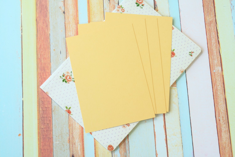 Maize Yellow Craft Style blank postcards