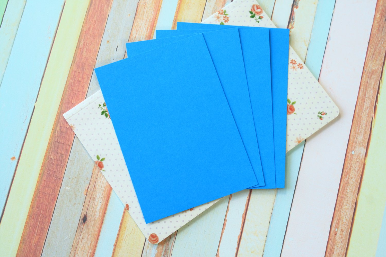 Deep Blue Craft Style blank postcards