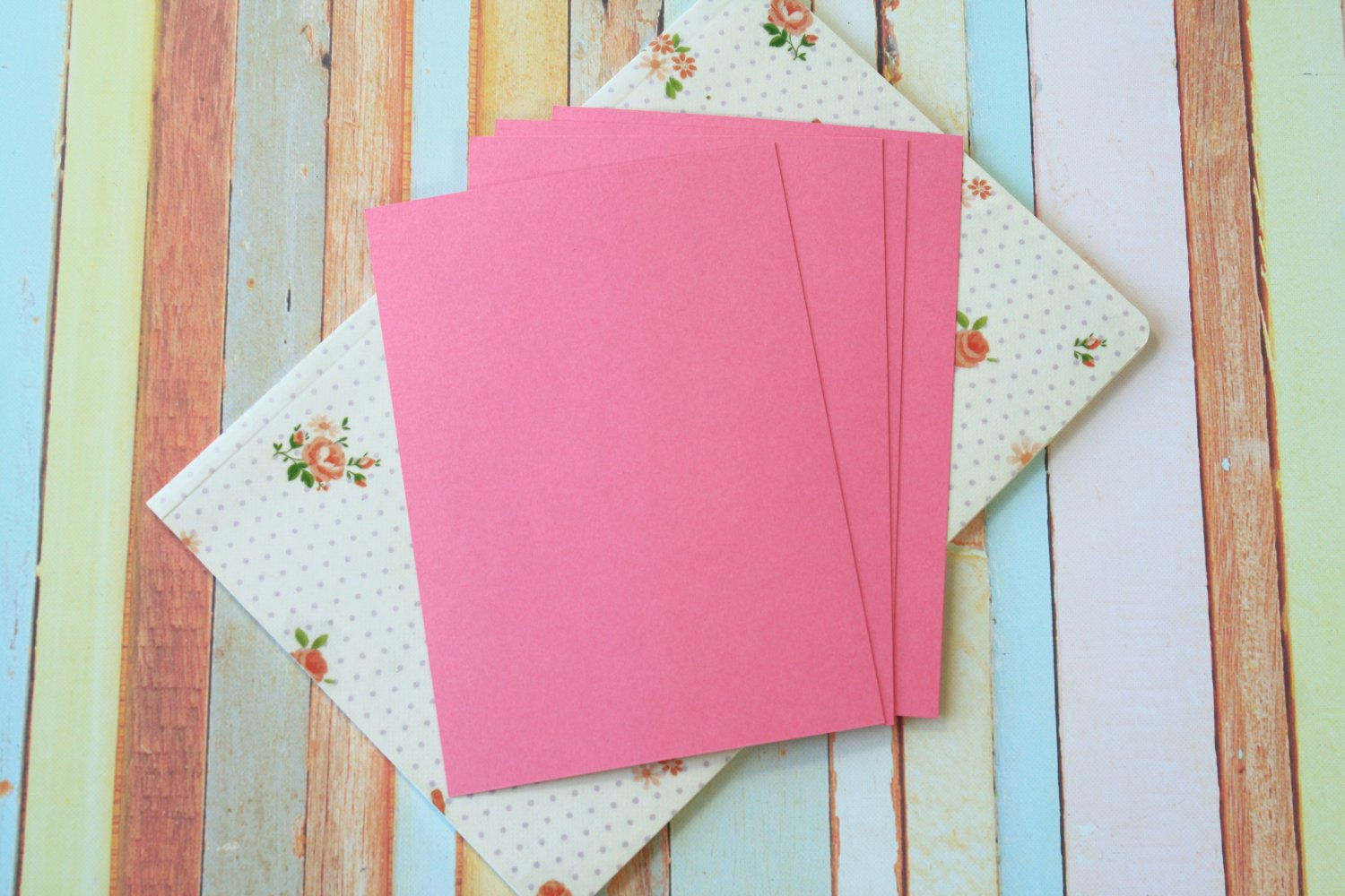 Cerise Pink Craft Style blank postcards