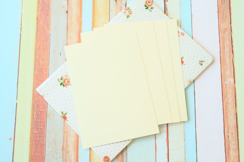 Cream Craft Style blank postcards