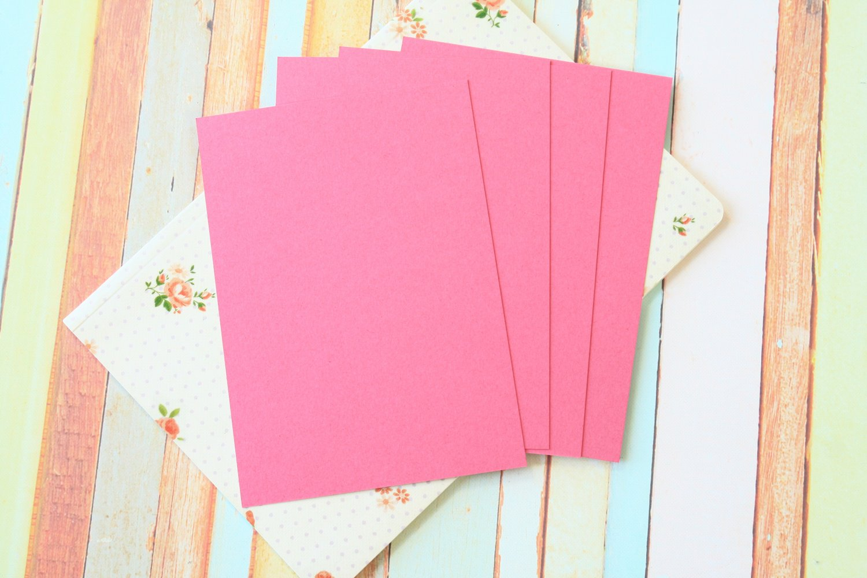 Punch Raspberry Craft Style blank postcards