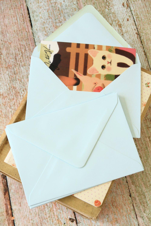 Pale Blue plain C6 banker envelopes