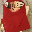 Burgundy Claret Red plain C6 banker envelopes