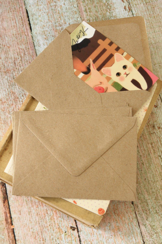Plain Kraft Brown plain C6 banker envelopes