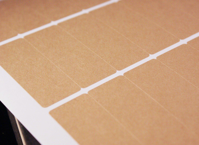 1 5/16 x 2 3/4 inch Kraft Paper sticker label sheets