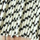 Black Big Dots paper straws