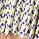 Purple Big Dots paper straws