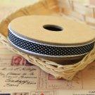 Cross Weave Black woven ribbon