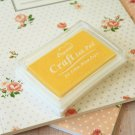 Yellow Crystal Craft Ink Pad rubber stamp pad