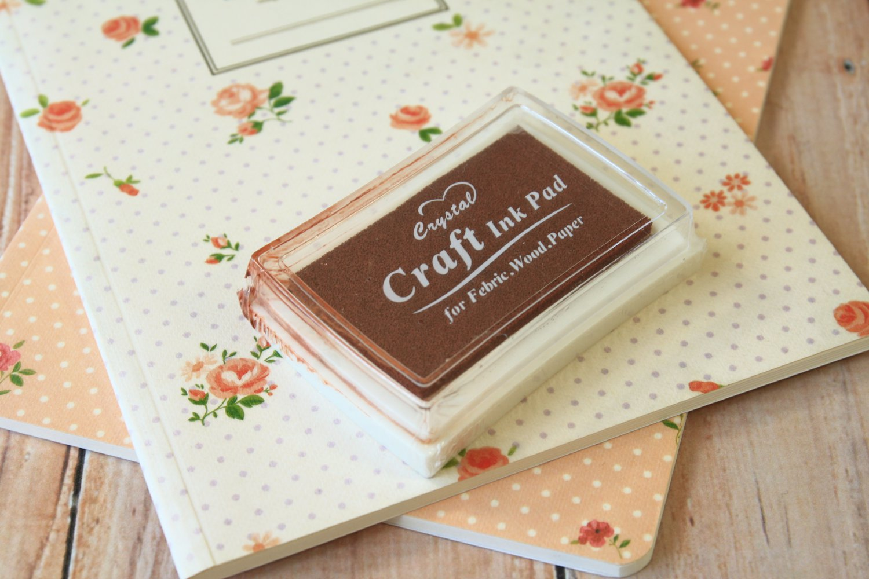 Chocolate Brown Crystal Craft Ink Pad rubber stamp pad