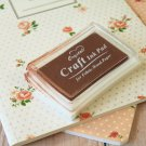 Chocolate Brown Crystal Craft Ink Pad rubber stamp pad