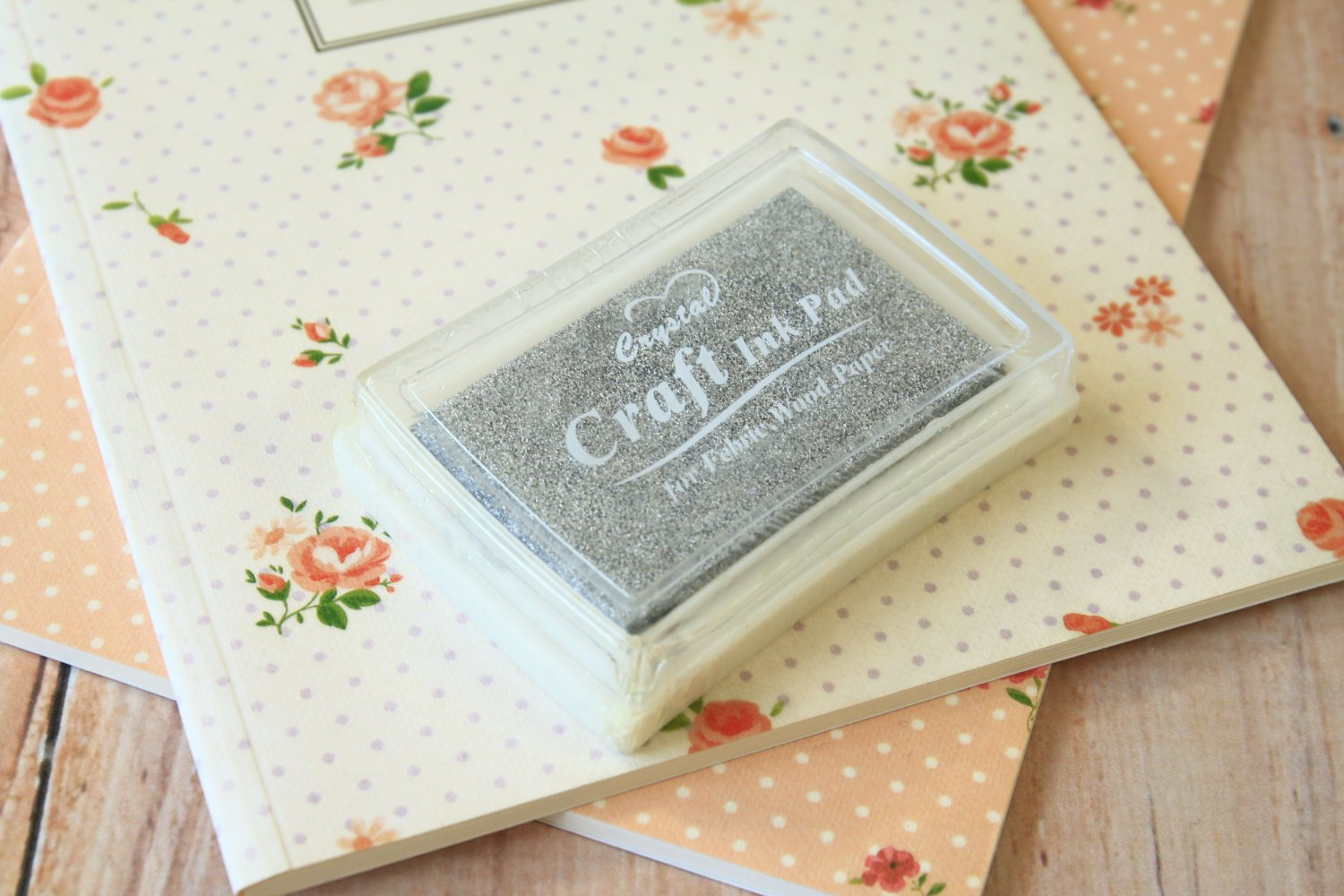 Silver Grey Crystal Craft Ink Pad rubber stamp pad