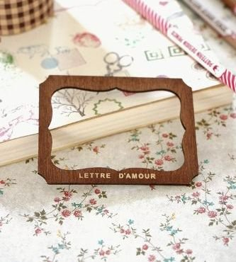 Lettre d'Amour Fancy Label stencil template B