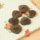 East of India Medium Heart Coconut Buttons