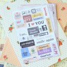 Pony Brown diary deco scrapbooking stickers set