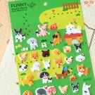 Puppy Dog cartoon animal puffy stickers