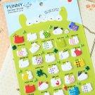 Rabbit cartoon animal puffy stickers