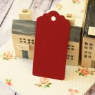 Burgundy Claret Dark Red large scallop swing tags