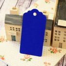 Royal Blue large scallop swing tags