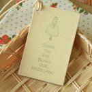 Bridesmaid East of India printed gift tags