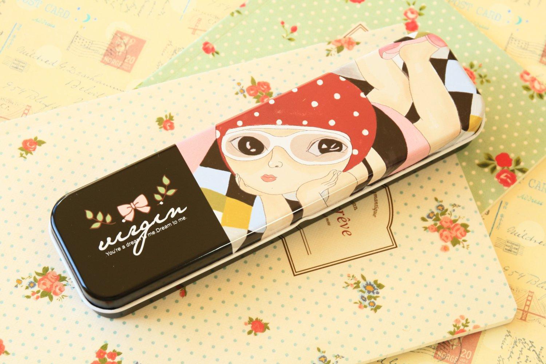 Swim Romantic Girl cartoon pen box