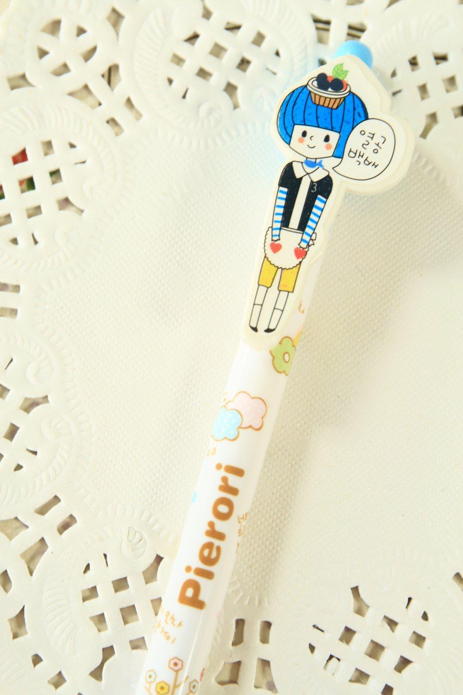 Blue Pierori Girl Pen cartoon ballpen