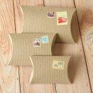 Ribbed Brown Kraft DIY Small pillow boxes