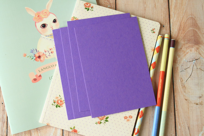 Amethyst Purple postcard blanks