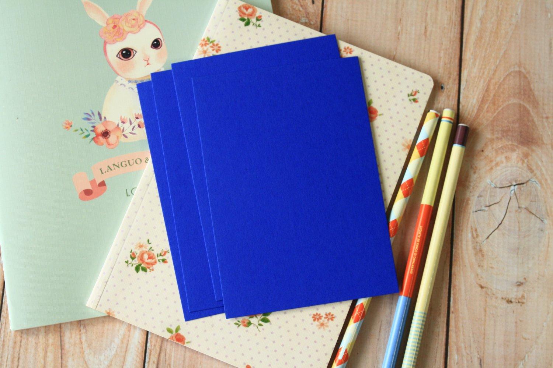 Royal Blue postcard blanks