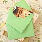 Mint Green vintage series C6 banker envelopes