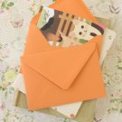 Apricot Orange vintage series C6 banker envelopes