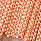 Orange Checkers paper straws