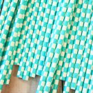 Light Aqua Checkers paper straws