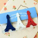 I Was in Paris Eiffel Tower Tri Color Clips