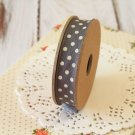 East of India Charcoal Grey & Cream Polka Dots ribbon
