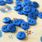 Blue Mini Resin Candy Colour Buttons 20pc Set