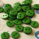 Leaf Green Mini Resin Candy Colour Buttons 20pc Set
