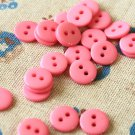 Magenta Pink Mini Resin Candy Colour Buttons 20pc Set