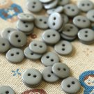 Silver Grey Mini Resin Candy Colour Buttons 20pc Set