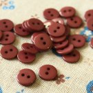 Chocolate Brown Mini Resin Candy Colour Buttons 20pc Set