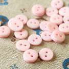 Baby Pink Mini Resin Candy Colour Buttons 20pc Set