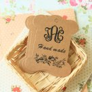 Handmade Birds Kraft card spool blanks bobbins
