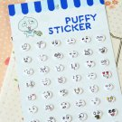 Happy Everyday Circles cartoon puffy stickers