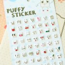 Squares cartoon puffy stickers