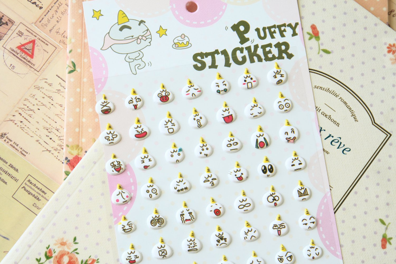 Feel So Good Circles cartoon puffy stickers