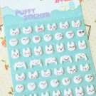 Super Rabbit cartoon puffy stickers