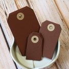 Large Chocolate Brown reinforced luggage gift tags