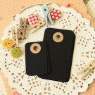 Ink Black petite rounded gift tags