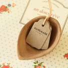 East of India Handmade mini kraft shop tags