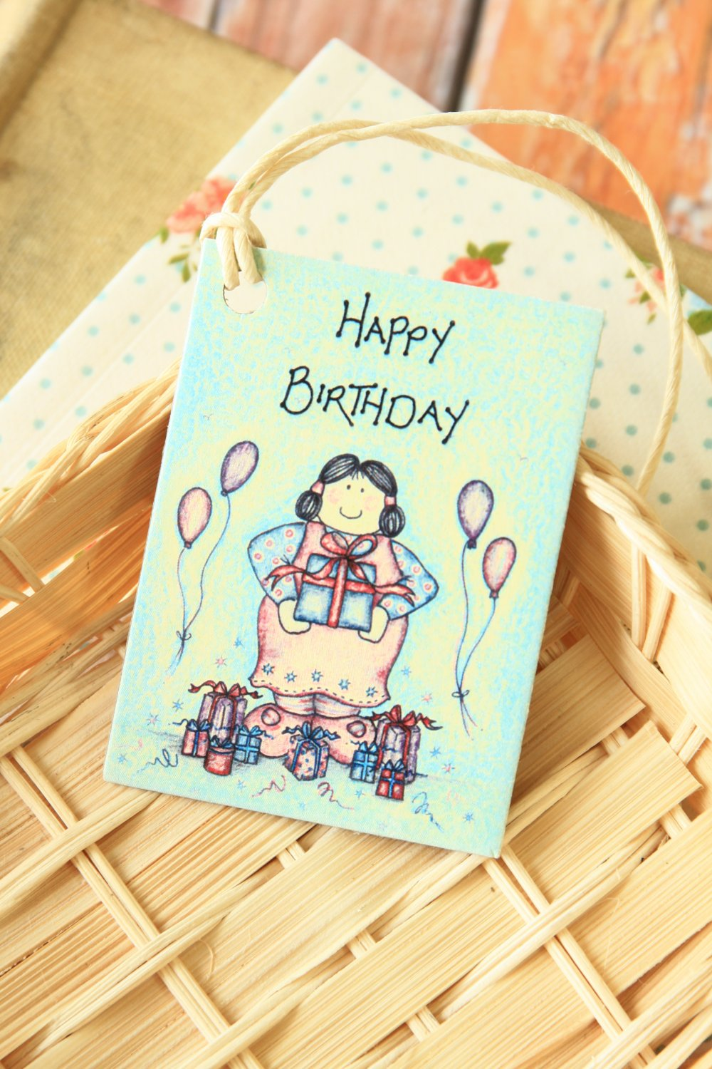 Birthday 2 East of India printed gift tags